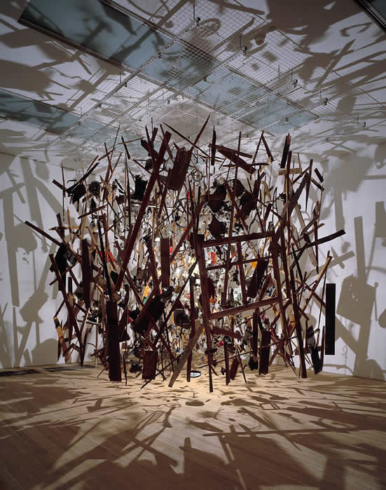 Cornelia Parker, 'Cold Dark Matter: An Exploded View' 1991